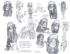 Anime Character Reference Sheet | The same deal with Grunkle Stan (done on October 25th), whose physique ...