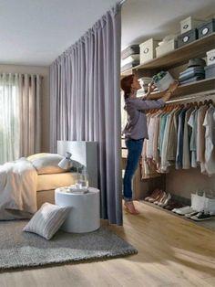 Trendy Bedroom Storage For Small Rooms Clothing Walk In Small Space Living, Small Spaces, Bedroom Storage For Small Rooms, Small Bedrooms, Small Beds, Navy Bedrooms, Master Bedrooms, Ideas Armario, Hidden Closet