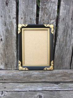73e4525879b4 Black and Gold Picture Frame 5x74x6 Ornate Frame by ThePaintedLdy Gold  Picture Frames