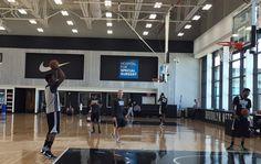 Nets Prep for Hornets
