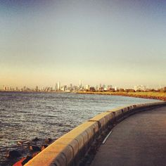 Nothing better than a morning run at the beach from Elwood to St Kilda.