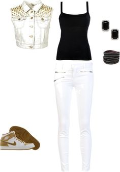 """studded ."" by laylahood on Polyvore"