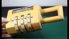 [LXG239] DIY Combination Password Lock using Cardboard - YouTube Geocaching, Cardboard Playhouse, Cardboard Toys, Cardboard Furniture, Escape Room Design, Diy Birthday Gifts For Sister, Diy Lock, Key Diy, Escape Room Puzzles