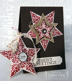 Stampin' Up! Australia: Claire Daly Independent Demonstrator Melbourne: Stampin' Up! Bright and Beautiful Christmas Card and Star Decoration