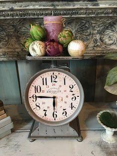 Grocery Scale Clock - Magnolia Manoir