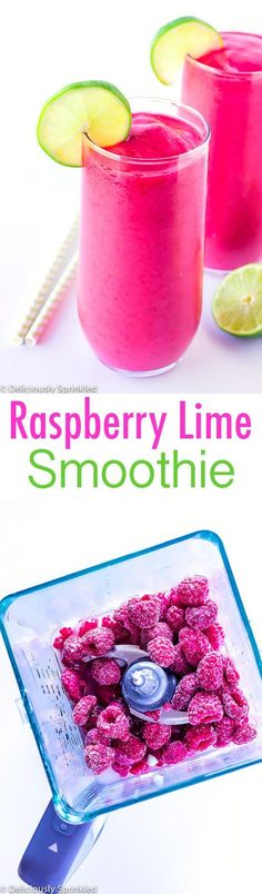 Raspberry Lime Smoothie #healthy #antioxidant