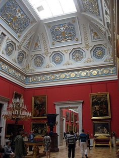 The Small Italian Skylight Room in the Hermitage Museum, St. Petersburg, Russia