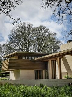 Conrad and Evelyn Gordon House, Frank Lloyd Wright 1957-63. Silverton, Oregon. Usonian Style.: