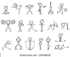 Figure Drawing Tutorial, Stick Figure Drawing, Easy Doodle Art, Doodle Art Drawing, Easy Drawings For Kids, Drawing For Kids, Funny Stick Figures, Different Emotions, Sketch Notes