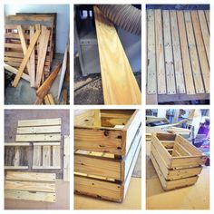Wood Crate DIY. Had a lot of fun today making those wooden crates from wood pallets!! Awesome family DIY project and the best part is it's free!! Well.. If you don't count the gray stain. Rustic, antique wood crates.