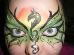 dragon face painting - Bing Images