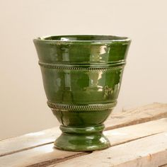 """GREEN CERAMIC VASE """"MEDICI"""" 100% MADE IN ITALY """"Medici"""" vase glazed with antiqued edges. Ideals for home and garden. 100% MADE IN ITALY AND HAND MADE!"""