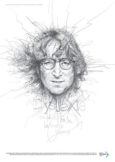 As an experiment with scribble art, illustrator Vince Low created these 9 celebrity portraits… Art And Illustration, Caricature, Vince Low, Art Sketches, Art Drawings, Art Du Croquis, Art Du Monde, Scribble Art, A Level Art