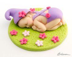 Decoraciones de torta vaquero  Bebé fondant  Cake Topper