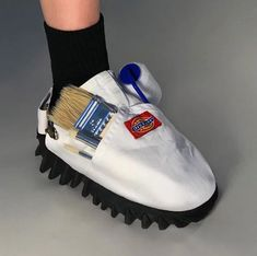 the shoes by nicole mclaughlin continue her exploration into upcycling everyday items into fantastical, yet totally wearable, footwear. Sweat Shirt, Garden Bags, Mens Fashion, Fashion Outfits, Adidas Fashion, Boutique Hair Bows, Everyday Items, How To Make Shorts, Aesthetic Pictures