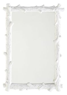 White Faux Bois Mirror