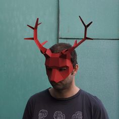 Stag or Reindeer Half Mask - Wintercroft  - 1
