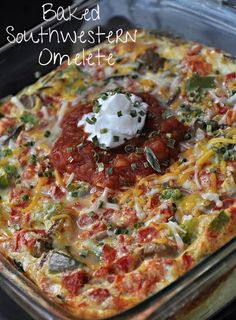 WinnersDrinkMilkBlog.com: Baked Southwestern Omelet by Krista from Everyday Mom's Meals