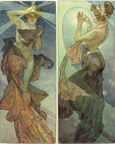 [Mucha's The Morning Star and The Pole Star]  I've always sort of loved the idea of cos-ing the Pole Star, one day.