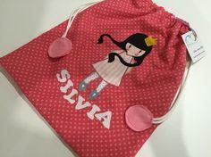 Bolsa de merienda personalizada para Silvia #bag #tute #personalizada #merienda