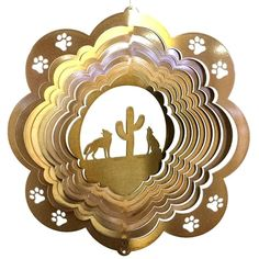 """12"""" Coyote - Copper Starlight Wind Spinner"""