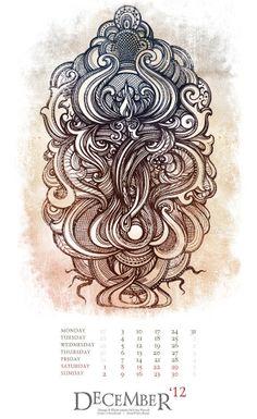 mural illustration calender printing design irina vinnik the eyes of imagination