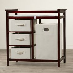 Viv + Rae Sawyer Avery Changing Table with 3 Baskets and Hamper Finish: Cherry