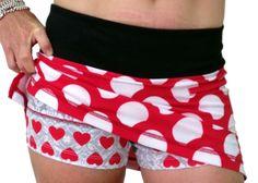 Minnie mouse running skirt -shorts Women's Minnie Skirt Shorts. Next marathon wine and dine!!!