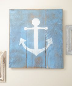 Blue Anchor Wall Art -- add the anchor holds for a little Christian inspiration