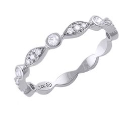 Stackable diamond band, thin and delicate