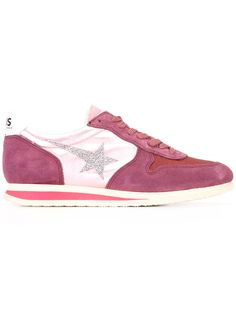Haus By Ggdb - panelled sneakers - women - Cotton/Leather/Suede/rubber -  Pink/Purple