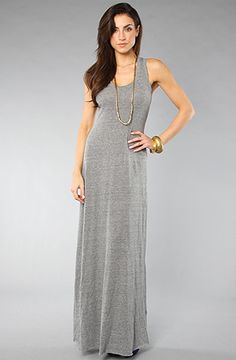 The Racer Maxi Dress in Grey. Cool, comfortable from Alternative Apparel $68