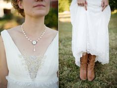 bride's attire diptych by Simple Color Photography http://simple-color.com/2010/10/18/jessica-and-mark-the-wedding-madison-ga/#