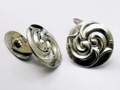Sterling Silver Cufflinks by Bergs Sølvvarefabrik Art Nouveau Skonvirke design