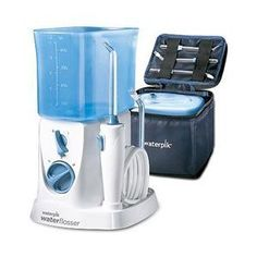 The #Waterpik® TravelerTM Water Flosser WP-300 is The Easy and More Effective Way to FlossTM. And its new compact design is ideal for smaller bathrooms and trave...