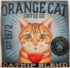 Tango & Chocolate # - Orange Cat - Ideas of Orange Cat - Tango & Chocolate # Orange Cat Coffee 18 mesh 12 x 12 The post Tango & Chocolate # appeared first on Cat Gig. Crazy Cat Lady, Crazy Cats, Orange Cats, White Cats, Cat Signs, Cat Posters, Tango, Ginger Cats, Vintage Cat