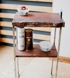 Reclaimed Wood Butcher's Block Table | A smooth surface for sustenance slicing. This butcher's block ... | Kitchen Islands