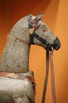 Painted wooden horse...