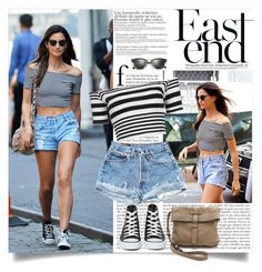 """lily aldridge - steal her style"" by lisamichele-cdxci ❤ liked on Polyvore featuring Motel, Converse, Frye and Ray-Ban"