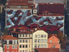 "MURAL ""Continuidade"" | Porto, 2017 by Mots 2017 Design, Mural Art, Street Art, Walls, Painting, Porto, Wall Art, Mural Wall Art, Mural Painting"