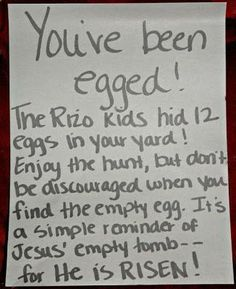 great idea. Could use at a church easter egg hunt given out extra prizes for the those finding the empty egg. @ decorating-by-day