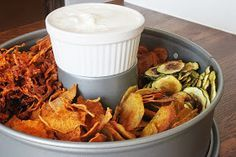 Gemüse-Chips Skinny Recipes, Clean Recipes, Veggie Recipes, Cooking Recipes, I Love Food, Good Food, Yummy Food, Low Carb Chips, Healthy Snacks