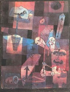 """""""Analysis of Diverse Perversities,"""" 1922, Paul Klee. Pen, watercolor on paper; 24 x 31 cm. Collection Hein."""