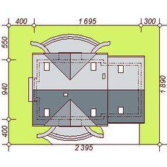 DOM.PL™ - Projekt domu DN KARMELITA GOLD 2M CE - DOM PC1-56 - gotowy koszt budowy House Plans, Floor Plans, House Design, How To Plan, Modern, Gold, Thailand, Country Houses, Poland