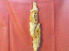 Carved Cottonwood Bark House Fairy House by JJLadellsWoodcarving, $55.50