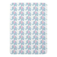 Pink & Blue Baby Mod Elephant Baby Blanket