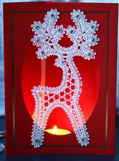 Advanced Embroidery Designs - FSL Battenberg Reindeer Lace