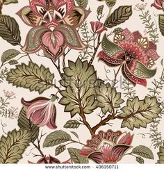 Light floral seamless pattern hand drawn backdrop vector image on VectorStock Flower Backgrounds, Colorful Backgrounds, Provence Style, Leaf Drawing, Watercolor Images, Floral, Seamless Background, Textile Prints, Textile Design