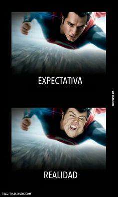 Superman, expectativa y realidad