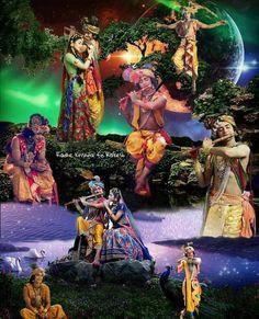 Image may contain: one or more people, people on stage and people dancing Radha Radha, Radha Krishna Love Quotes, Cute Krishna, Radha Krishna Pictures, Radha Krishna Photo, Krishna Photos, Krishna Art, Jai Shree Krishna, Radhe Krishna
